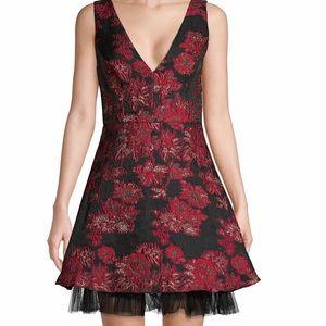 BCBGMAXAZRIA Floral Dress w/Stunning Details #NWT